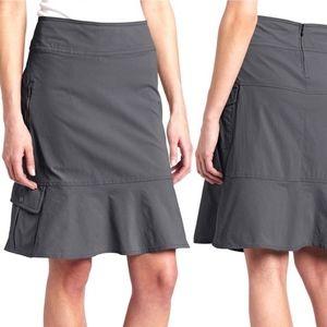 Royal Robbins Discovery skirt gray cargo 4